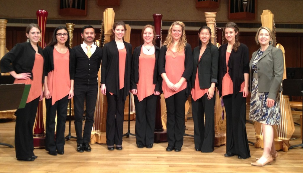 UT Harp Ensemble April 2013